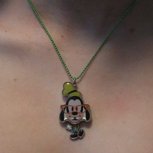 Disney nerd goofy necklace